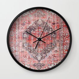 Vintage Anthropologie Farmhouse Traditional Boho Moroccan Style Texture Wall Clock
