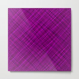 Royal ornament of their pink threads and dark intersecting fibers. Metal Print