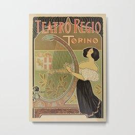 Art nouveau Royal Opera House Turin Torino Metal Print