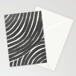 Rainbow geometric line art black and white Stationery Cards