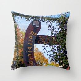 30. Jahre Kaltblutmarkt Laupheim Throw Pillow
