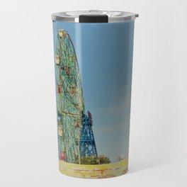 Colorful Coney Island Travel Mug