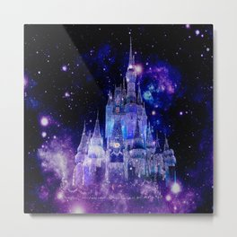 Celestial Palace : Purple Blue Enchanted Castle Metal Print