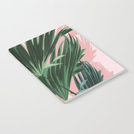 Pink and green palm trees Notebook