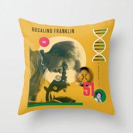 Beyond Curie: Rosalind Franklin Throw Pillow