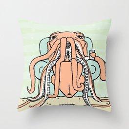 colossal slacker Throw Pillow