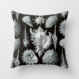 Ernst Haeckel - Prosobranchia Throw Pillow