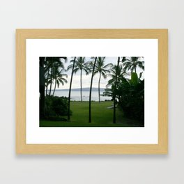 A VIEW FROM THE PALM TREES Framed Art Print