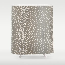 Antelope Fawn Print Shower Curtain