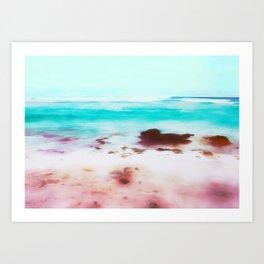 Pink Sand Art Print