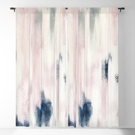 Blush Pink and Blue Pretty Abstract Blackout Curtain