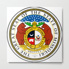 Missouri seal Metal Print