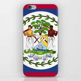 Belize flag emblem iPhone Skin