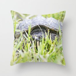 Snapping Turtle 9 Throw Pillow