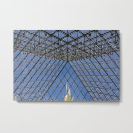 View from Under: The Louvre Metal Print
