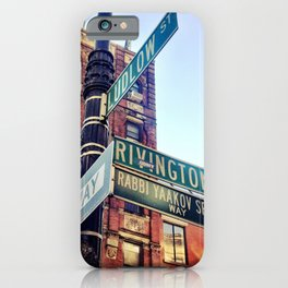 Ludlow and Rivington, Lower East Side Manhattan iPhone Case