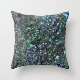 Abalone Shell | Paua Shell | Sea Shells | Patterns in Nature | Natural | Throw Pillow