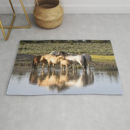 Reflection of a Mustang Family Rug