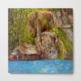 Chimney Rock Metal Print