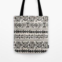 Boho Tribal Black & Cream, Geometric Print, Ink Tribal Decor Umhängetasche