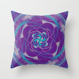 Swirls above, so below Throw Pillow