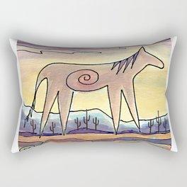 Sacred Mustang Rectangular Pillow
