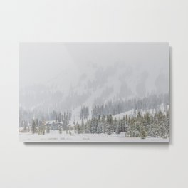 Snow Covered Forest Metal Print
