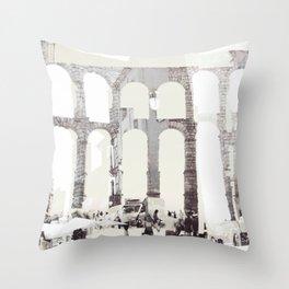 Touring Spain - Segovia Throw Pillow