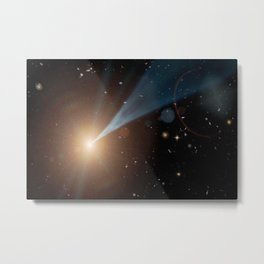 1469. Cosmic Jets Coming at You Artist Concept Metal Print