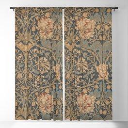 Honeysuckle by William Morris 1876 Antique Vintage Pattern, CC0 Spring Summer Blackout Curtain