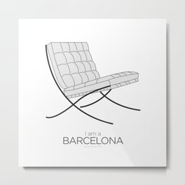 Chairs - A tribute to seats: I'm a Barcelona (poster) Metal Print