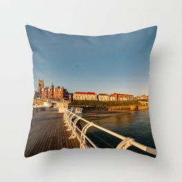 The seaside town of Cromer at sunrise Throw Pillow