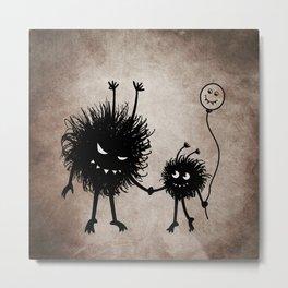 Evil Flower Bug Mother's Day Metal Print