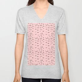 Pink Boob Print / Free the Nipple / Breast Cancer Awareness  Unisex V-Neck