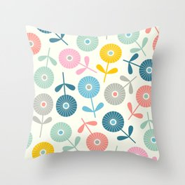SPRING DITSY Throw Pillow