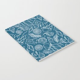 Sea Life - Marine Blue Notebook