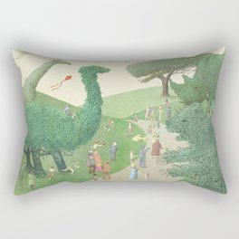 The Night Gardener - Summer Park Rectangular Pillow