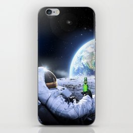 Astronaut on the Moon with beer iPhone Skin