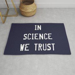 In Science We Trust Rug