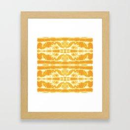 Yellow Tie Dye Twos Framed Art Print