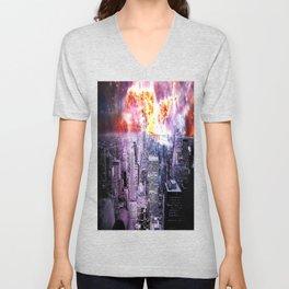 New York City : Parallel Dimension Unisex V-Neck