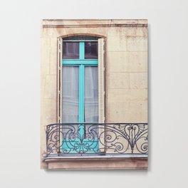 Petit - Paris Window Metal Print