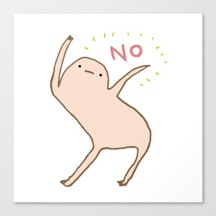 Honest Blob Says No Leinwanddruck