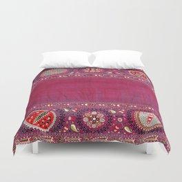 Shakhrisyabz  Southwest Uzbekistan Suzani Embroidery Print Duvet Cover