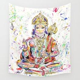 Hanuman Hindu God in the form of a monkey Wall Tapestry