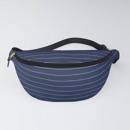 Navy Blue Pinstripe Line Stripe Minimal Stripes Lines Fanny Pack