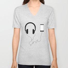 Music and love Unisex V-Neck