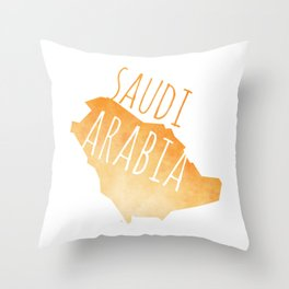 Saudi Arabia Throw Pillow