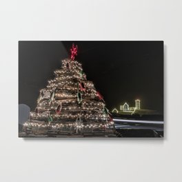Lobster trap tree at the Nubble Lighthouse Metal Print