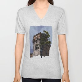 Tower of the palace (color) Unisex V-Neck